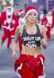 Las Vegas stora Santa Run Fotografering för Bildbyråer