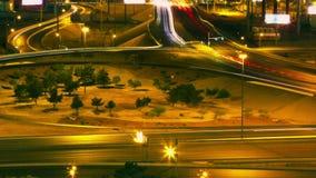 Las Vegas-Straßen-und -autobahn-Verkehrsc$zeit-versehen HD stock footage