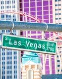 Las Vegas-Straßenschild Stockfotografie