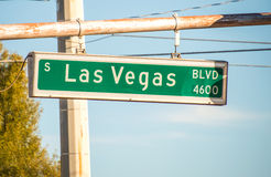 Las Vegas-Straßenschild Lizenzfreie Stockbilder