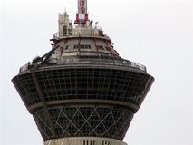 Las Vegas Stratosphere Hotel Top Closeup. Closeup image of the Stratosphere Hotel on the Vegas strip in Las Vegas, Nevada Stock Photos