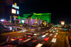 Las Vegas street cars in motion Royalty Free Stock Image