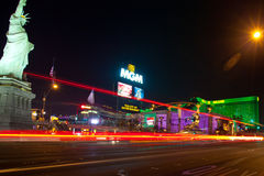 Las Vegas street and hotels Royalty Free Stock Photos