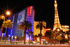 Las Vegas Street night scene. Royalty Free Stock Images