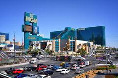 Las Vegas street scene. Las Vegas Blvd on the Strip Stock Images