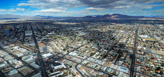 Las Vegas Streets Aerial View Stock Photo