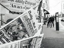 Las Vegas-Streifen 2017, der Daily Mail, kisok Straße, newspape schießt Stockfotos