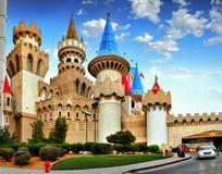 Las Vegas-Streifen, Excalibur, Hotel-Kasino stockbilder