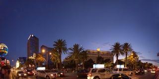 Las Vegas-Streifen nachts Stockfotografie