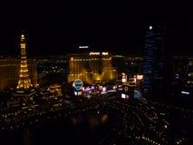 Las Vegas-Streifen-Skyline stockbild