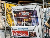 Las Vegas-Streifenschießen Befreiungs-Franzosezeitung 2017 Lizenzfreies Stockfoto