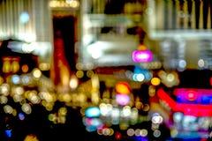Las Vegas-Streifenstraßenlaterne bokeh Stockfotografie