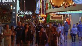 Las Vegas Strip - μια δημοφιλής και πολυάσχολη θέση τη νύχτα - ΗΠΑ 2017 φιλμ μικρού μήκους