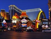 Las Vegas Strip, νύχτα λεωφόρων, Casino Royale, φω'τα νέου Στοκ Φωτογραφίες