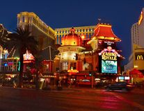Las Vegas Strip, νύχτα λεωφόρων, Casino Royale, φω'τα νέου Στοκ Εικόνα