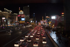 Las Vegas Strip τη νύχτα Στοκ φωτογραφίες με δικαίωμα ελεύθερης χρήσης