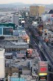 Las Vegas strip. Aerial view of the Las Vegas strip royalty free stock photography