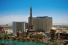 Las Vegas Strip. View of the Las Vegas Strip taken from the Bellagio Hotel royalty free stock photography