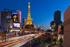 Las Vegas Strip. LAS VEGAS, NEVADA - FEBRUARY 3: Las Vegas strip on February 3, 2012 in Las Vegas, Nevada. The Las Vegas Strip is an approximately 4.2-mile (6.8 stock photo