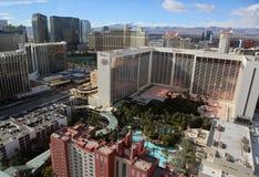 Las Vegas Strip aerial Stock Photo