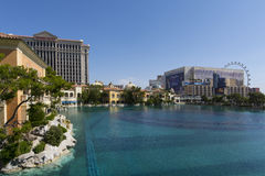 The Las Vegas strip as seen from the Bellagio hotel. stock photos