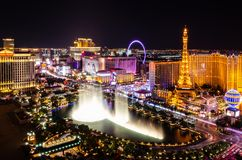 Free Las Vegas Strip At Night Stock Photography - 137331922