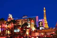 Las Vegas Strip Bright Lights Royalty Free Stock Photography