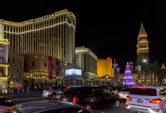 Las Vegas Strip at Christmas Stock Image