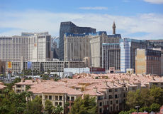 Las Vegas Strip, condo view. View of the historic Las Vegas Strip seen from the east with condominium homes in the foreground Royalty Free Stock Image