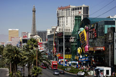 Las Vegas Strip at daytime. The historic Las Vegas Strip is shown during the day Stock Images
