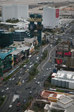 Las Vegas Strip at daytime. The historic Las Vegas Strip is shown during the day from aerial viewpoint Stock Photos