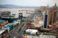 Las Vegas Strip at daytime. The historic Las Vegas Strip is shown during the day from aerial viewpoint Royalty Free Stock Image