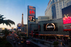 Las Vegas Strip at Dusk Stock Images