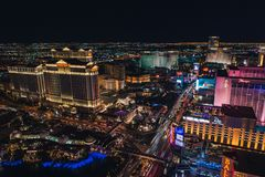 Las Vegas Strip from Eiffel Tower royalty free stock image