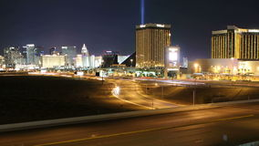 Las Vegas Strip and Freeway Time Lapse with Zoom stock video footage