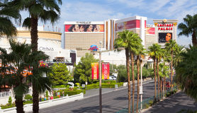 Las Vegas Strip in the hot midday sun Royalty Free Stock Photography
