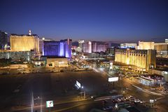 Las Vegas Strip Hotels Royalty Free Stock Images