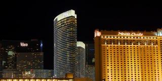 Las Vegas Strip Hotels Stock Photos
