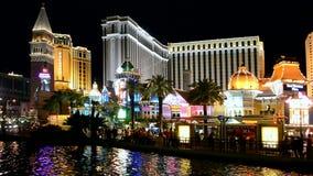 Las Vegas Strip in Las Vegas, Nevada, stock video footage