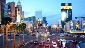 Las Vegas Strip in Las Vegas, Nevada, USA, stock video