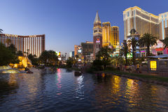 Las Vegas Strip in Las Vegas, NV on June 26, 2013 Royalty Free Stock Photo