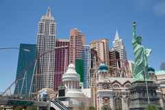 Las Vegas strip New York New York hotel exterior Stock Photo