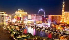Las Vegas Strip in night lights Royalty Free Stock Photo