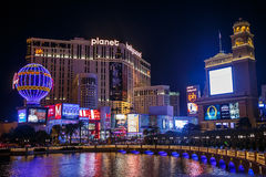 Las Vegas strip by night. royalty free stock images