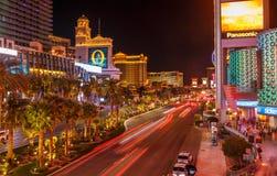 Las Vegas strip by night. Royalty Free Stock Image