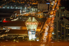 Las Vegas strip by night. Stock Images