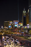 Las Vegas Strip at night Royalty Free Stock Photos