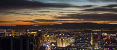 Las Vegas Strip at night Stock Photos