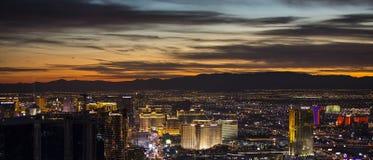 Las Vegas Strip at night. Las Vegas, Nevada - January 6: World famous Vegas Strip in Las Vegas, Nevada as seen at night on January 6, 2014. Stretching 4.2 miles Stock Photos