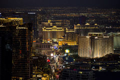 Las Vegas Strip at night Stock Images